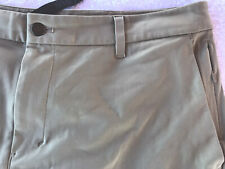 $88 GENUINE LULULEMON MEN'S USED CASUAL DRESS ATHLETIC SHORTS TAN BEIGE SIZE 36