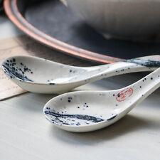 Japanese Glaze Ceramic Spoon Soup Conjee Dessert Dining Tableware Household Tool