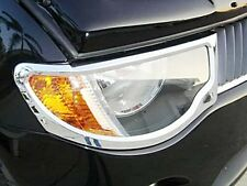 LH+RH CHROME HEAD LIGHT LAMP COVER TRIM FOR MITSUBISHI L200 TRITON 2005-2010 06