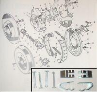 (Axle Set) TRIUMPH TR3a TR4 TR5 TR6 Rear Brake Shoe Shoes Fitting Kit PINS CLIPS