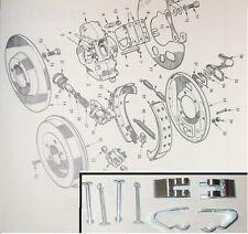 JENSEN Healey Mk1   Rear Brake Shoe Fitting Hold Down PINS CLIPS  (1972- Aug 73)