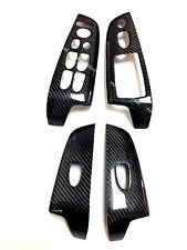 2006-2011 Honda Civic Sedan 4dr Carbon Fiber Window Door Switch Cover Trim
