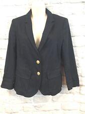 Zara Basic Women's Navy Blue School Boy Blazer With Gold Buttons Pockets Size M