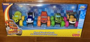 Blaze and the Monster Machines Neon Wheels 5 Pack Set Die-Cast Toys Vehicles New