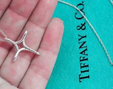 Tiffany & Co Elsa Peretti Sterling Silver 26mm Infinity Cross Pendant Necklace