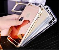 NEW Luxury Silicone Mirror View TPU Case Cover For iPhone 7 6 6s Plus 5 5s SE