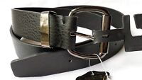 NWT MEN'S GENUINE LEATHER BELT, CASUAL, BLACK, BROWN, SIZES: 38, 40, 42