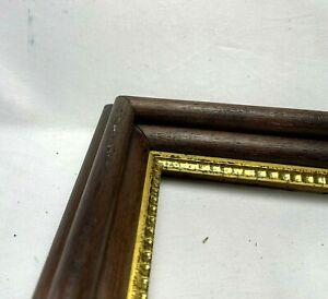 """Antique Fit 10 1/8""""x11 3/8"""" Gold Gilt Pie Crust Victorian Eastlake Picture Frame"""