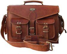 Women's Vintage Original GVB Leather Messenger Bag Shoulder Handbag Laptop Bag