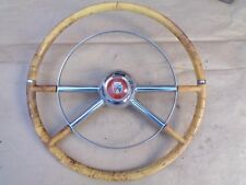 1954 Ford Deluxe STEERING WHEEL w/ HORN RING Original Accessory