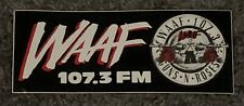 Guns N Roses Bumper Sticker Waaf 107.3 Boston New Mint Rare