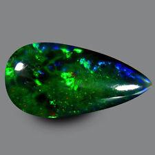 3.550CTS WONDERFUL QUALITY GEM! BLUE GREEN MULTI-COLOUR NATURAL BLACK OPAL PEAR
