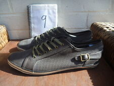 NEW LOOK MENS SIZE UK 9 GREY LEATHER SHOES