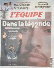 Journal L'EQUIPE 26/10/2020 - LEWIS HAMILTON - neuf