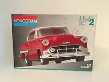Monogram Chevy 1953 Model car kit 1/24