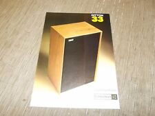 Ditton 33 Speaker Celestion Original Catalogue cataloge  original