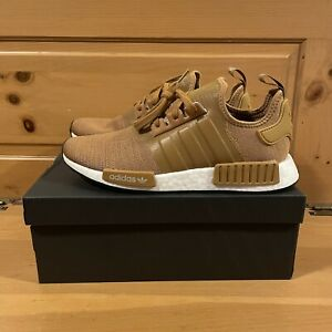 Adidas Men's NMD_R1 H01917 Mesa Brown and White Shoes Size 8