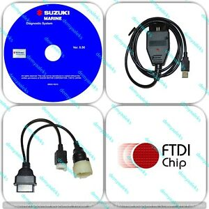 Diagnostic USB Cable Kit for Suzuki SDS 8.50 Outboard Boat Marine