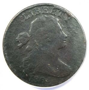 1804 Draped Bust Large Cent 1C S-266 Coin - ANACS F12 Details - Rare Key Date!