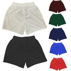 PE Shorts Boys Girls Kids Childrens School Sports Shadow Stripe Football