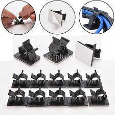 10PC Useful Self-Adhesive Wire Cable Ties Mounts Clamp Clip Organizer Holder New