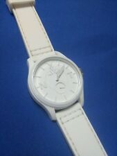 Toy Watch white silicone band watch, new battery