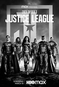Zach Snyder's Justice League Movie Poster (24x36) - Cavill, Gadot, Affleck v4