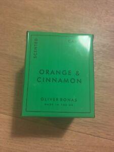 OLIVER BONAS ORANGE & CINNAMON SCENTED CANDLE - BRAND NEW SEALED IN BOX