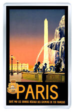 PARIS FRANCE VINTAGE REPRO FRIDGE MAGNET SOUVENIR IMAN NEVERA