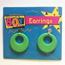 1980's Earrings - Green