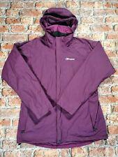 BERGHAUS AQ2 purple Rain Jacket Women's Size UK 16 /XL