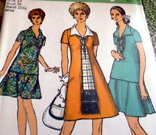 *Lovely Vtg 1970s Dress, Scarf, & Skirt Sewing Pattern 12/34