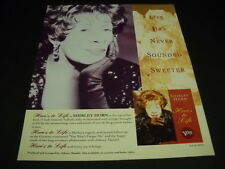 Shirley Horn Life Has Never Sounded Sweeter 1992 Promo Poster Ad mint condition
