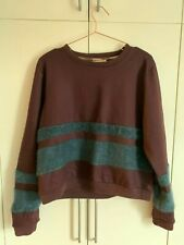Burberry Boxy Wool Jumper with Mohair Stripes size Small (UK 8)
