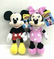 """Disney Mickey Mouse & Minnie Mouse 10"""" Plush Bean Doll Set of 2 ( Pink )"""