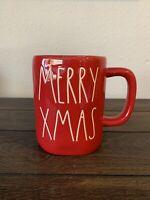 NEW RAE DUNN by Magenta Red MERRY CHRISTMAS Coffee Tea Mug Farmhouse Home Decor