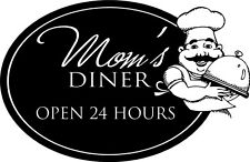 Mom's Diner Open 24 Kitchen Decor vinyl wall decal quote sticker Inspiration