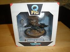 NEW Guardians Of The Galaxy Rocket Raccoon And Baby Groot Q-Fig Lootcrate Marvel