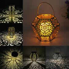 Outdoor Solar Lantern Hanging Light LED Waterproof Yard Patio Garden Lamp Decor