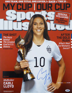 CARLI LLOYD AUTHENTIC AUTOGRAPHED SIGNED 16X20 PHOTO TEAM USA PSA/DNA ITP 93002