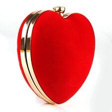 Women Heart Shape Crossbody Bag Clutch Wedding Prom Party Evening Purse Handbag