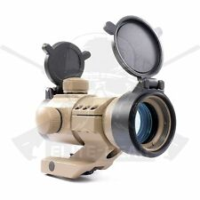 DE Tactical Red/Green Dot Reticle Holographic Weapon Sight Scope w/Lens Cover