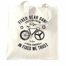Cycling Tote Bag Fixed Gear Gang Cyclist Biker Crank Biker Racing Bike