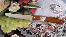 "QUALITY KNIVES THAI KIWI BRAND WOOD HANDLE KITCHEN TOOL BLADE 4.8"" STAINLESS NEW"