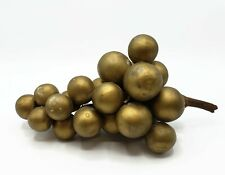 Italian Gold Vintage Alabaster Stone Grapes with Twig Stem
