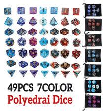 49Pcs For Dungeons & Dragons Dice Desktop RPG MTG DND Game Polyedrai Dice Set