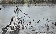 E34/ Miami Valley Chautauqua Ohio Postcard 1916 Swim High Dive Lake