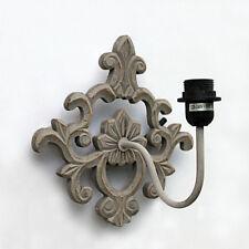 Wandlampe grau Wandleuchter Lampe antik Vintage shabby Landhaus Wand Lampe neu