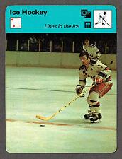 1978 Hockey 'Sportcaster', Lines in the Ice, N.Y.Rangers' Gilbert & Greschner