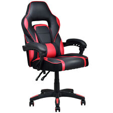 Executive Racing Style PU Leather Gaming Chair High Back Recliner Office Red